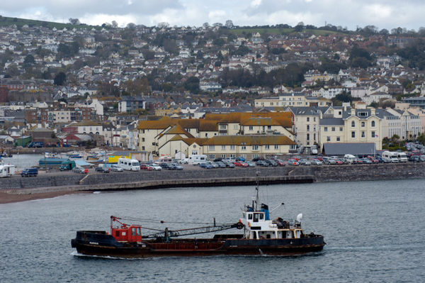 Dredger at Teignmouth