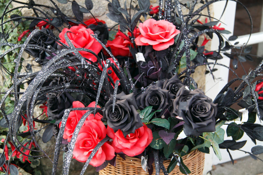 Black and Red Roses