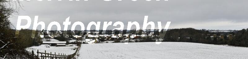 Hook Norton Village Snow Panoramic