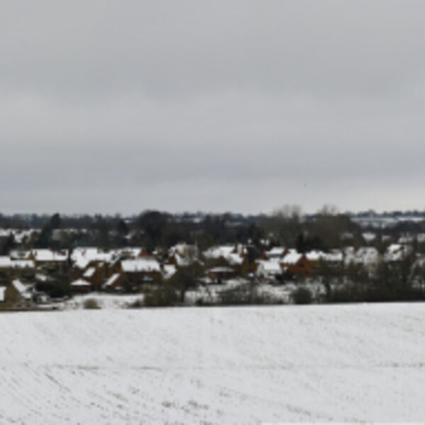 Hook Norton Village Snow Panoramic