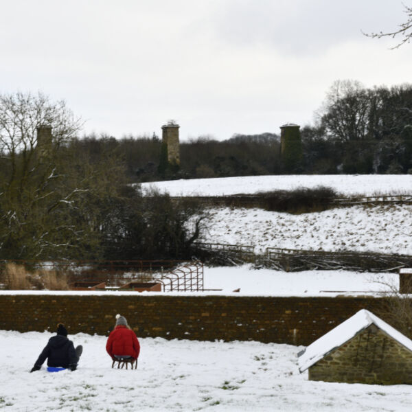 Sledging in Hook Norton