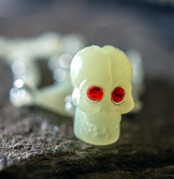 Red Eyed  Plastic Skull