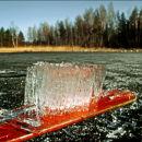 Spring Ice on Oar
