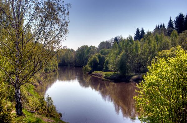 Vantaa river in spring