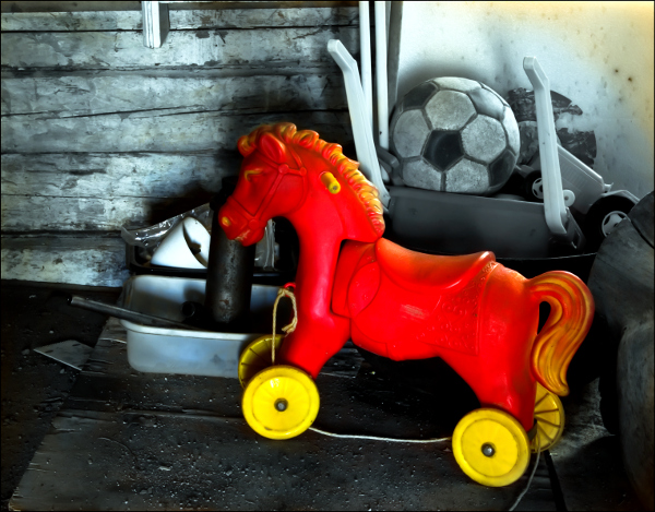 Red Toy Horse