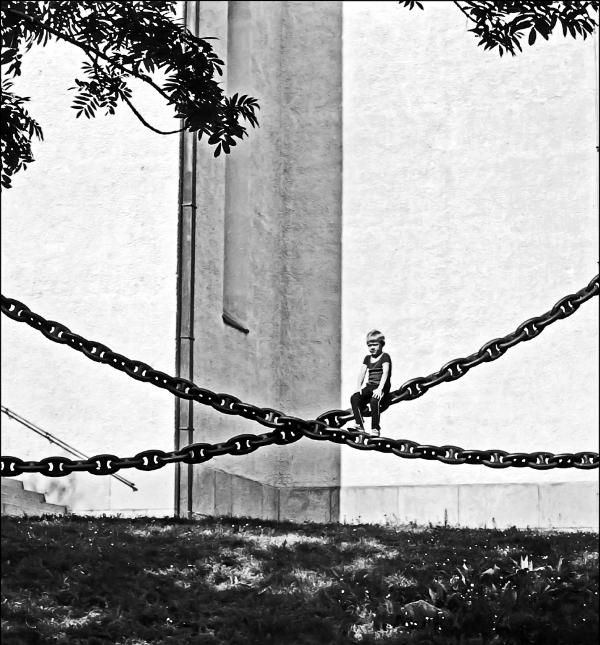 Boy on a Chain