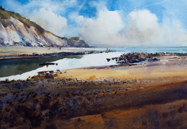 'Reflections, Charmouth' (sold)