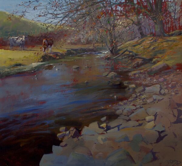 'Cattle by the Stream' (sold)
