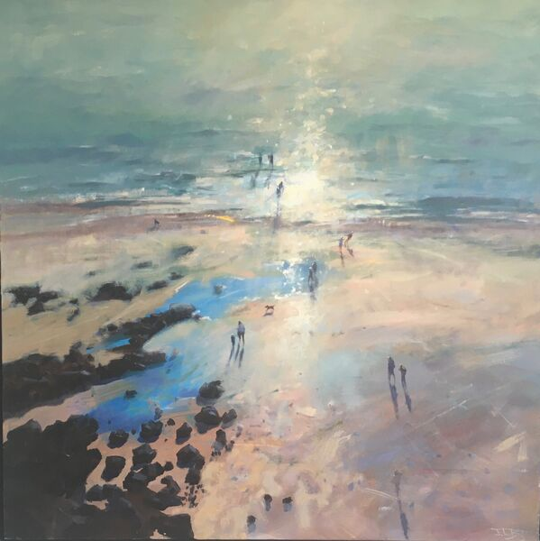 'Kite Flyers and Body Surfers' (sold)