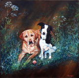 Aramis and Rosie. Commission