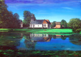Lisors Village Church, Normandy Landscapes Collection