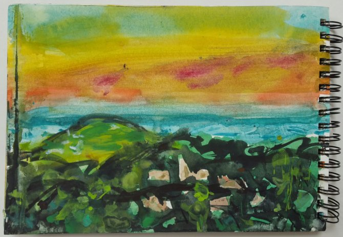Beeston Bump yellow sky