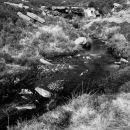 Moors stream and waterfall