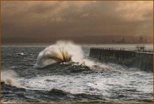 Breakers at Hartlepool Headland