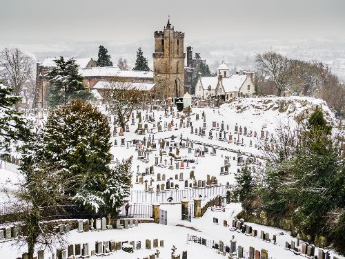 Stirling in the snow