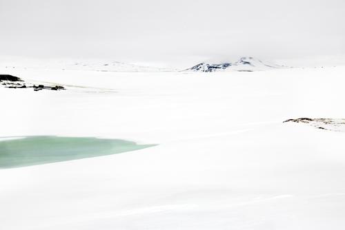 Mountain in Snowfield