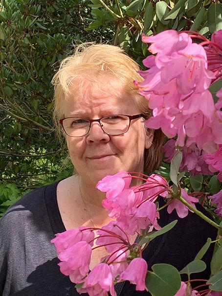 Anne in Rhododendron heaven
