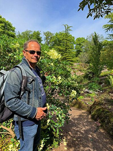 Me in  Gothenburg Botanical Garden