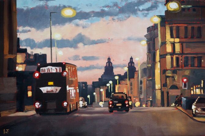 Hanover Street, Liverpool at sunset