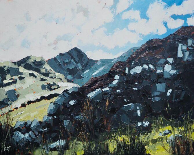 Mynydd Pencoed, Cader Idris range, 30 by 24 inches