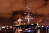 HMS Warrior At Christmas