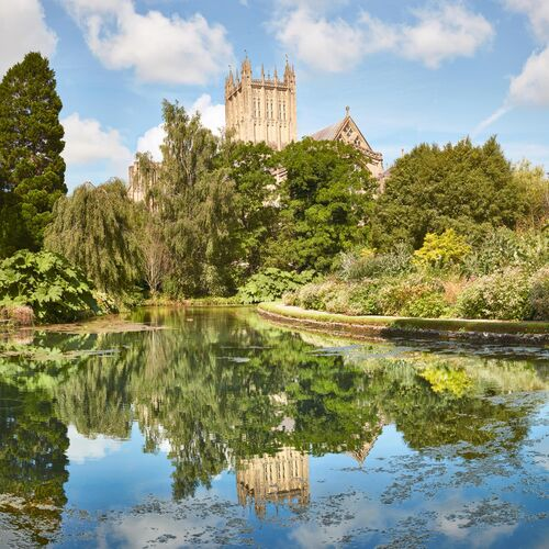 Bishops Palace Gardens in Wells