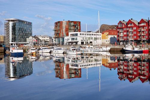 Svolvaer Harbour in the Lofoten Islands