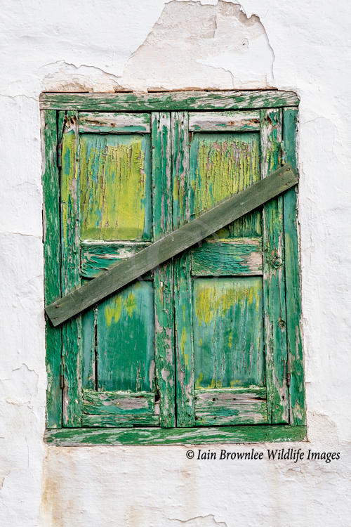 Old window in Menorca.