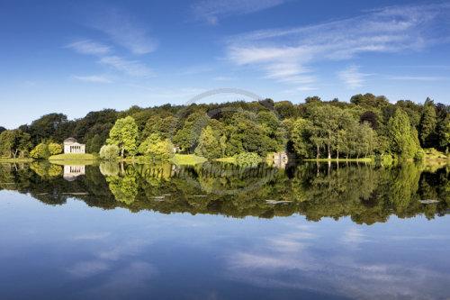 Reflections on Stourhead Lake - England