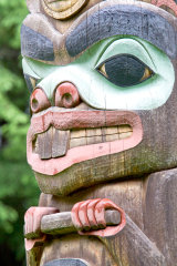 Native carving in Sitka