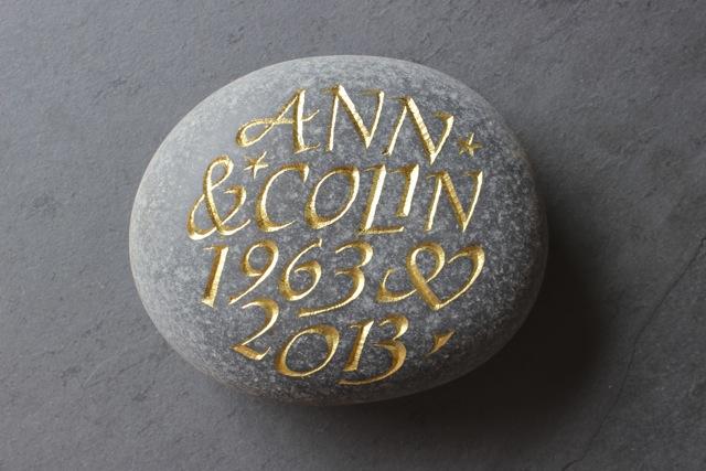 Ann & Colin. Anniversary Pebble