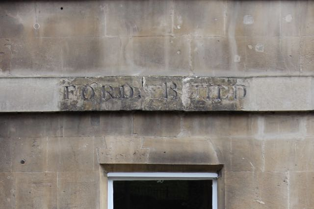 Axford's Buildings Inscription Conservation before