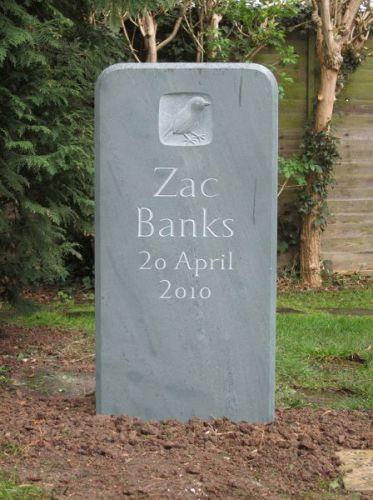Zac's cremation stone