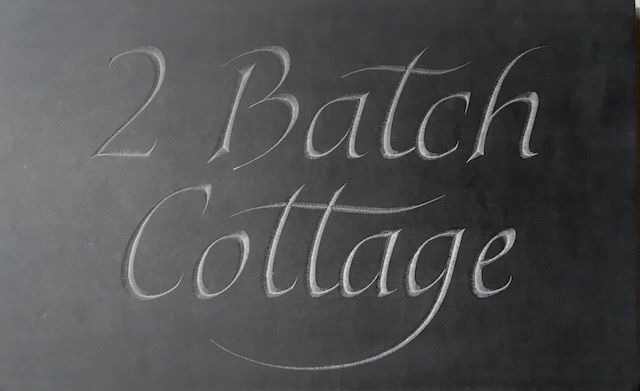 Batch cottage slate house sign