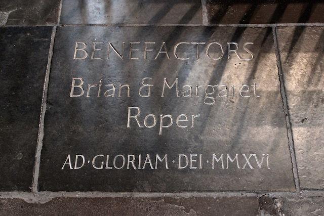 Benefactors stone Bath Abbey