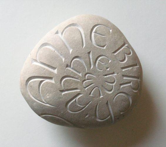 A memorial pebble for Ann Birch