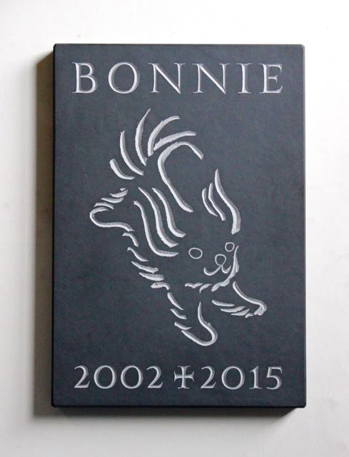 A memorial for a dog called Bonnie