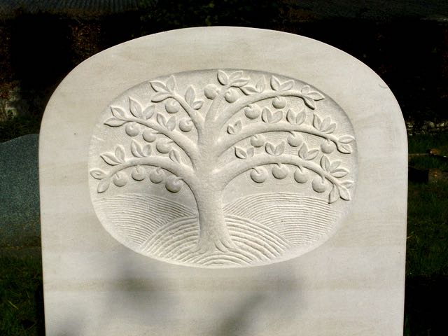 Apple tree carving