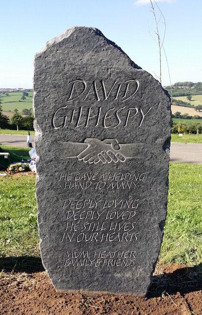 David's headstone