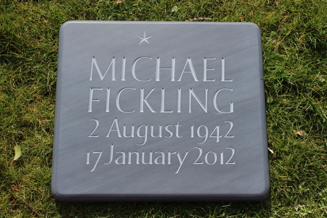 Michael Fickling's Cremation Tablet