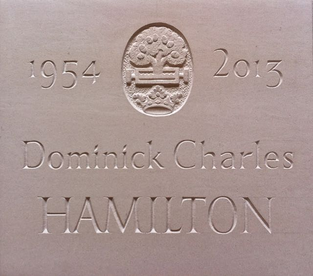 Dominick Hamilton's Cremation Tablet