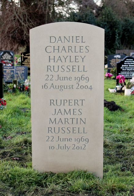 Daniel and Rupert Russell's Headstone