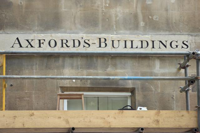 Axford's Buildings. Bath street sign conservation