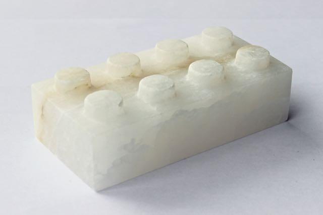 Alabaster Lego Brick. Birthdat Present