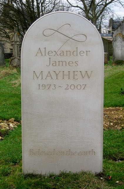Alexander Mayhews' Headstone