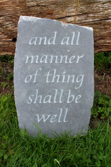 All Shall be Well. A garden inscription