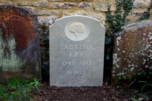 Sabrina Fry's Cremation Stone