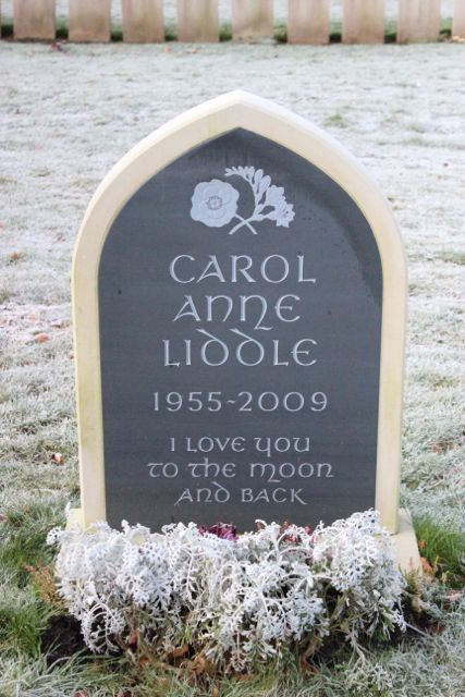 Carol Liddle's headstone