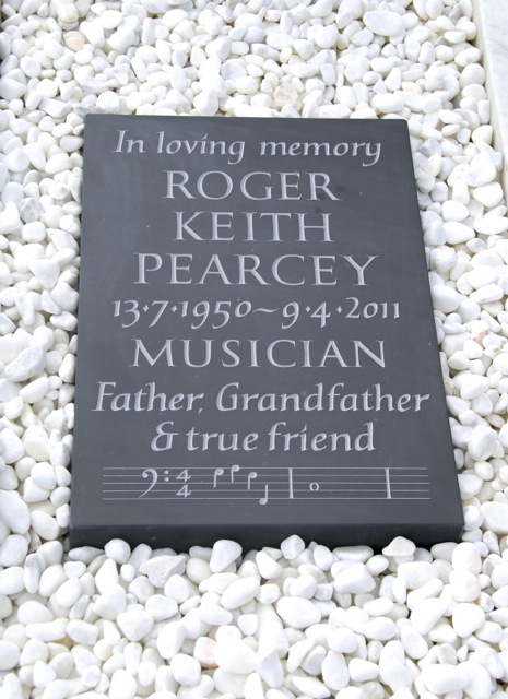 Roger Pearcey's Cremation Tablet