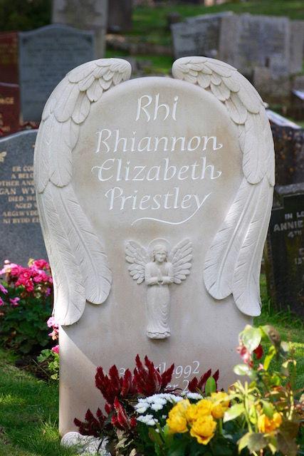 Rhiannon's angel headstone
